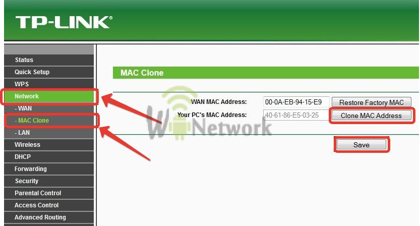 Зачем клонировать mac адрес на роутер