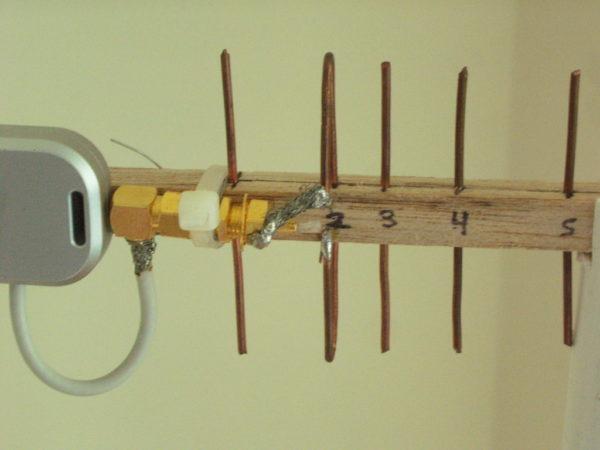 Простейшая антена для усиления сигнала своими руками