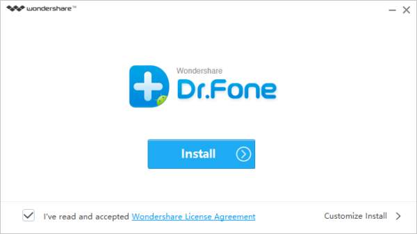 Установка программы Wondershare Dr.Fone
