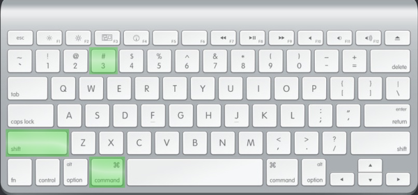 Сочетание клавиш для скриншота области
