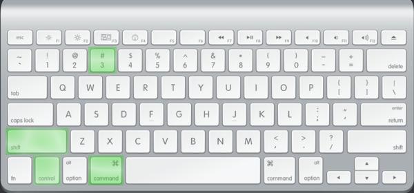 Сочетание 4-х клавиш на клавиатуре Mac