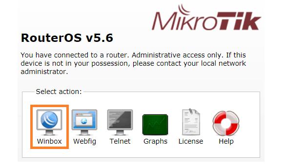 Панель управления RouterOS