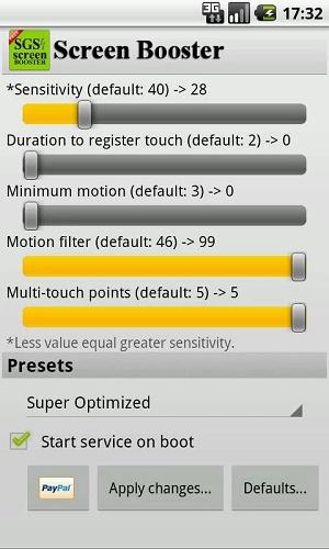 Приложение Screen Booster