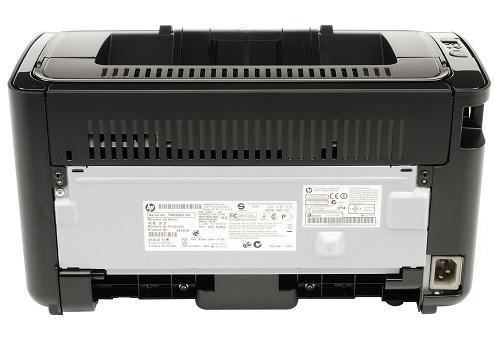Задняя панель принтера
