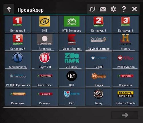 Список интерактивного телевидения