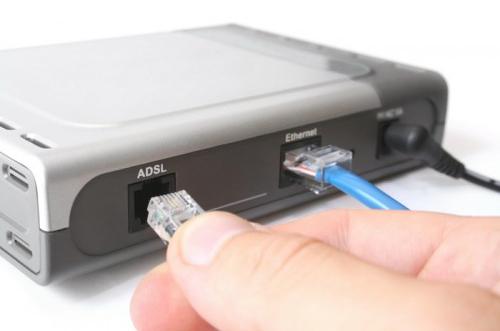 Подключение кабеля ADSL к роутеру
