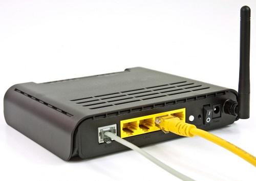 Порты на задней стороне ADSL-маршрутизатора
