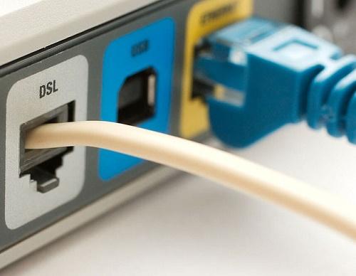 Порты на задней панели ADSL-маршрутизатора
