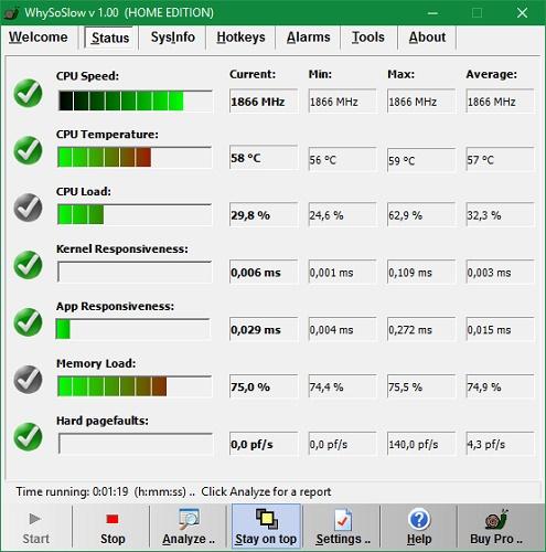 Интерфейс программы WhySoSlow