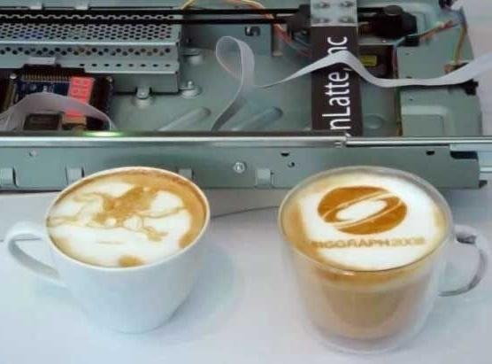 Изображение на кофейной пенке