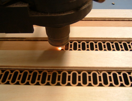 Лазерное вырезание отдельных деталей корпуса