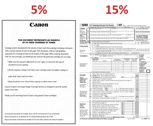 Оценка степени заполнения листа А4