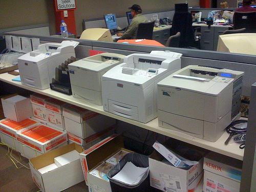 Распечатка большого количества текстовых документов в офисе