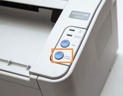 Кнопка, останавливающая печать