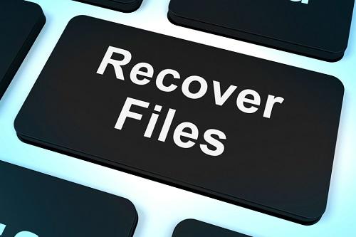 Кнопка восстановления файлов