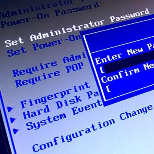 Страница установки пароля BIOS